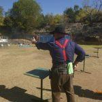 Cowboy shooting revolver